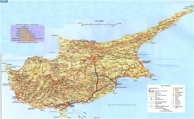 Карта дорог Кипра